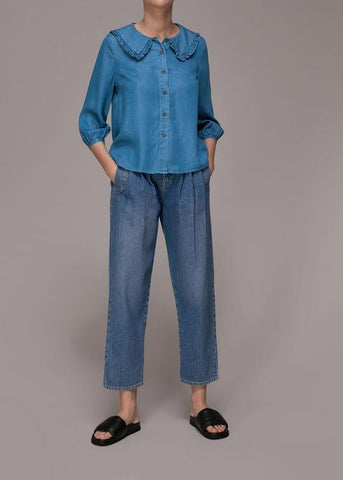 Denim tops and shirts from Whistles at Rue Madame