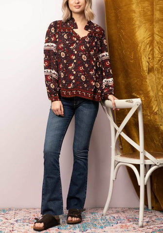 Women wearing floral top and blouse from Sea New York