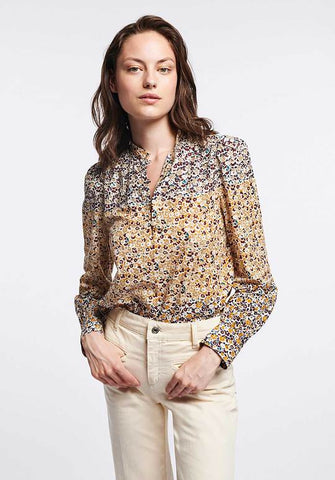 Women wearing floral top and shirt from Vanessa Bruno