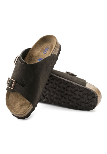 Zürich Soft Footbed Suede Sandals Mocha