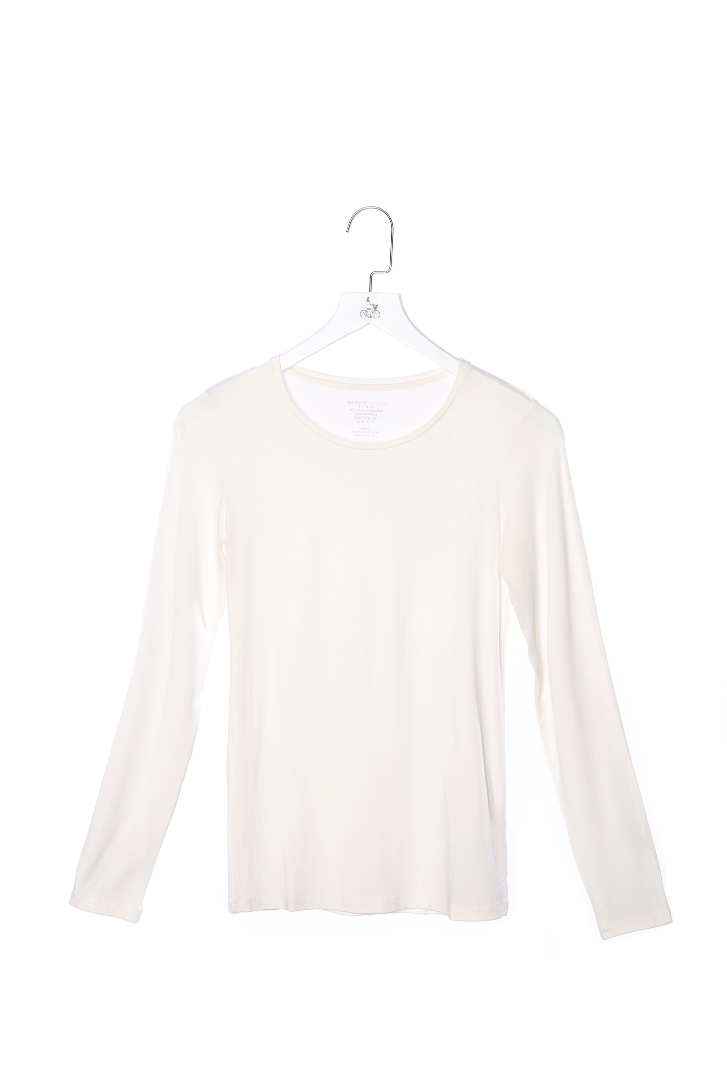 Long Sleeve Viscose T-Shirt Milk