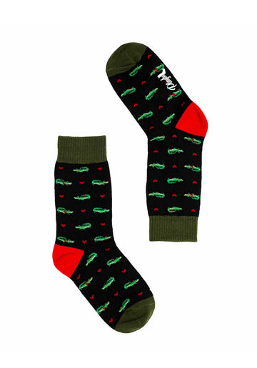 Alligator Socks Black