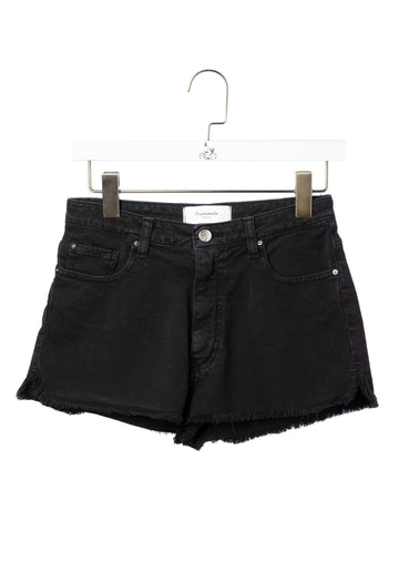 Denim Shorts Black-Stone