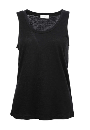 'Jacksonville' U-Neck Cotton-blend Tank Top Noir