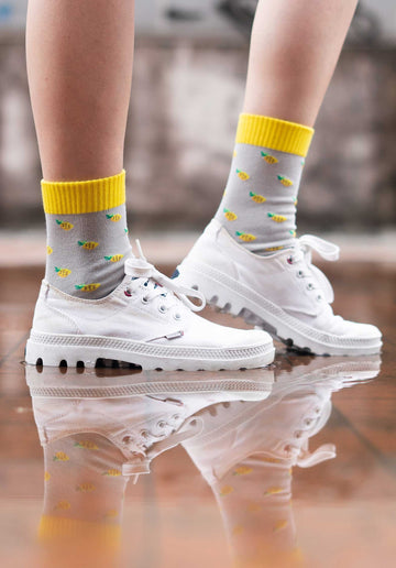Pineapple Socks Grey