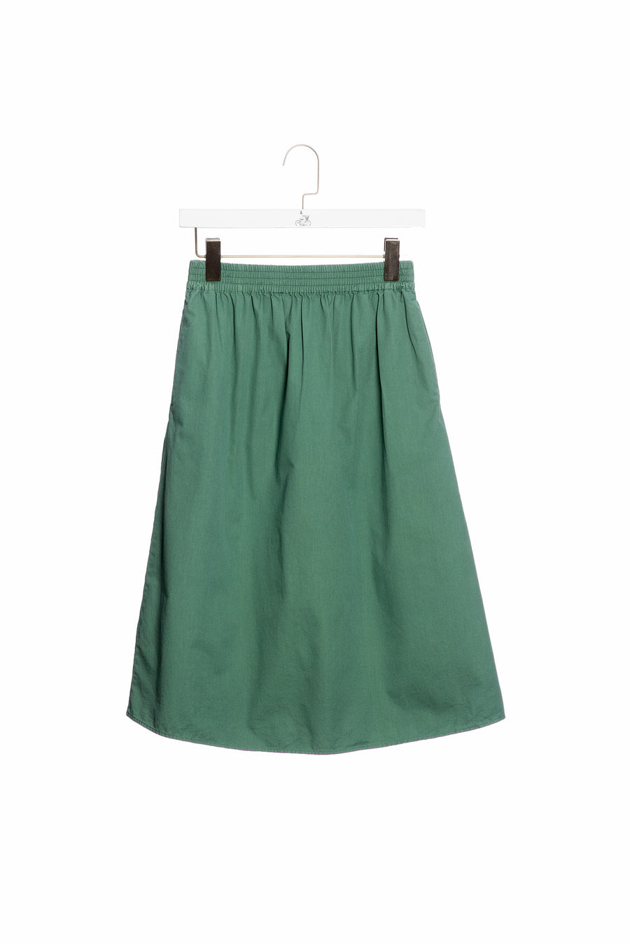 Cotton Skirt With Elastic Waistband 60-Jade