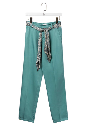 Cropped Straight Leg Chinos Celadon