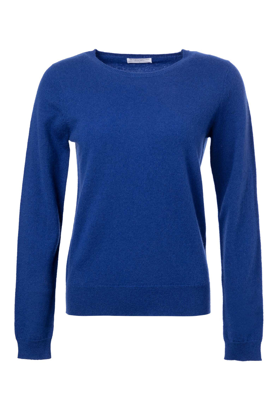 Knitted Long-sleeve Top Electric-Blue