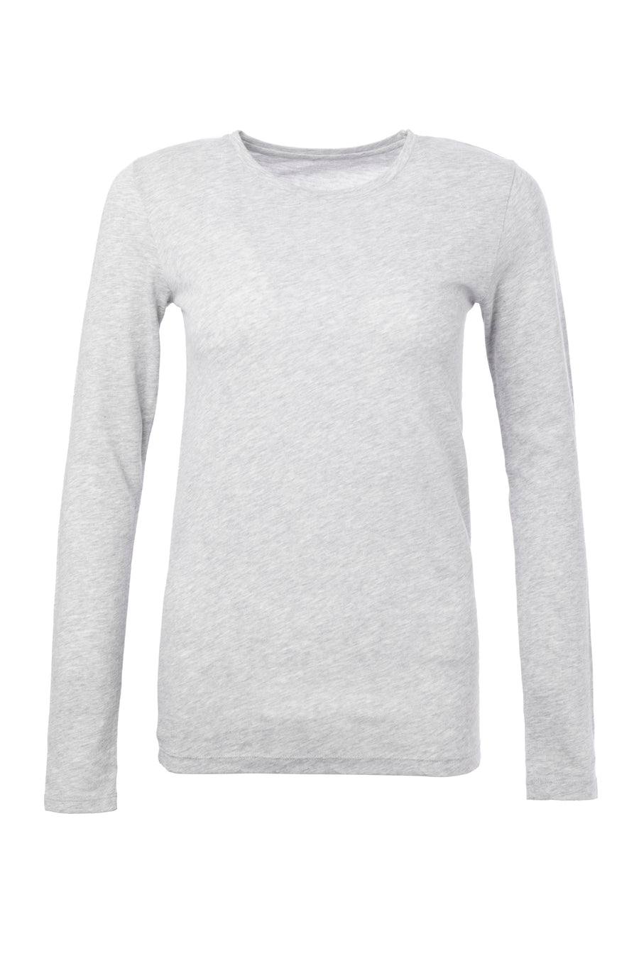 Cotton And Cashmere Blend Long Sleeved T-shirt Brume-Chine