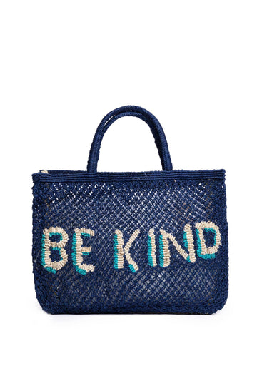 'Be Kind' Jute Bag (Small) Indigo