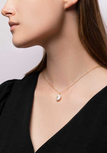 Necklace Haina Perle White Gold Perle-Blanche