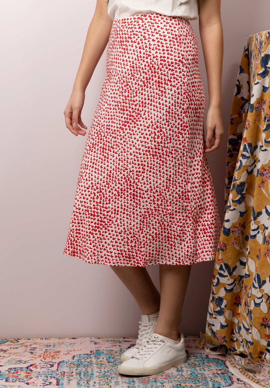 Heart Printed Skirt Heartthrob