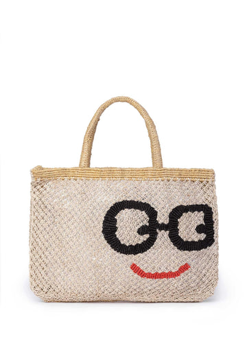 'Glasses' Jute Bag (Small) Nat