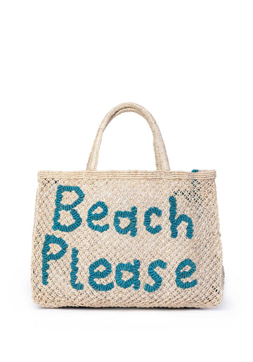 'Beach Please' Jute Bag (Small) Nat