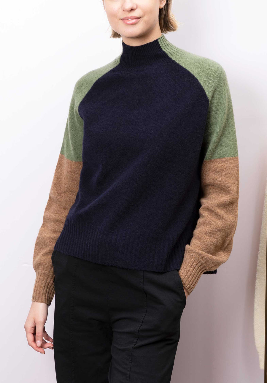 Merino Wool Colour Block Sweater Multi