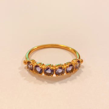 Maud  Gold Ring. Iolite