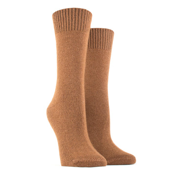 Merino Wool and Cashmere Socks 247-Camel