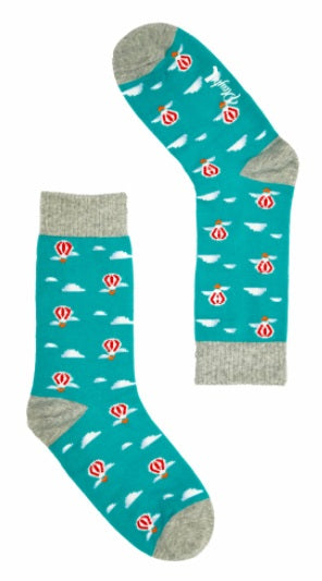 Playful Socks Socks Hot Air Ba Blue