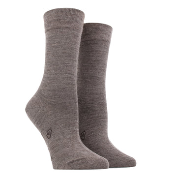 Wool and Cotton Blended Socks 258-Loutre
