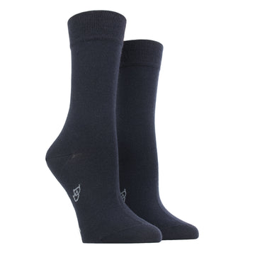 Wool and Cotton Blended Socks 459-Marine