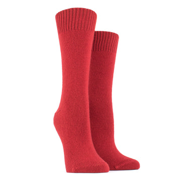 Merino Wool and Cashmere Socks 585-Ponceau