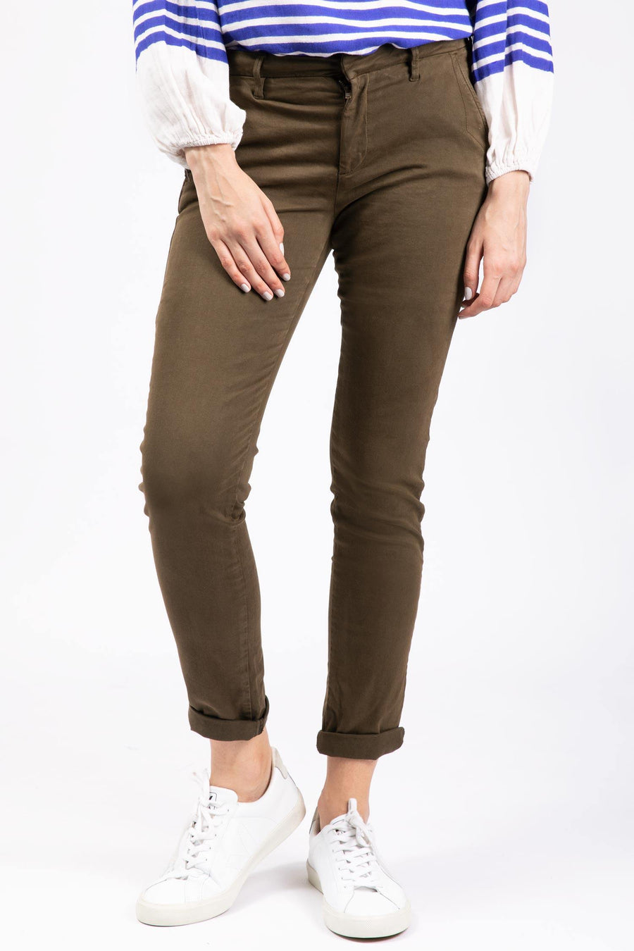 Straight Legged Chino Dark-Kaki