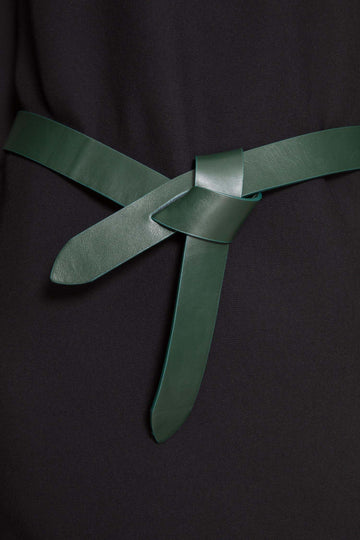 Slotted Knotted Belt Green