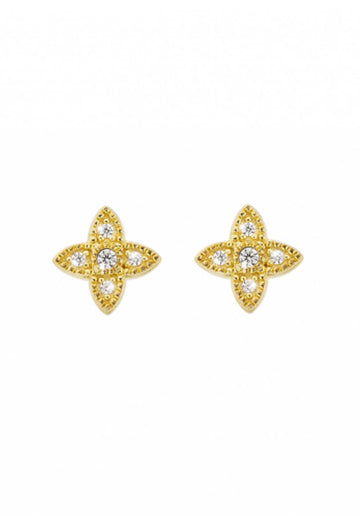 Earrings - Lotus Gold