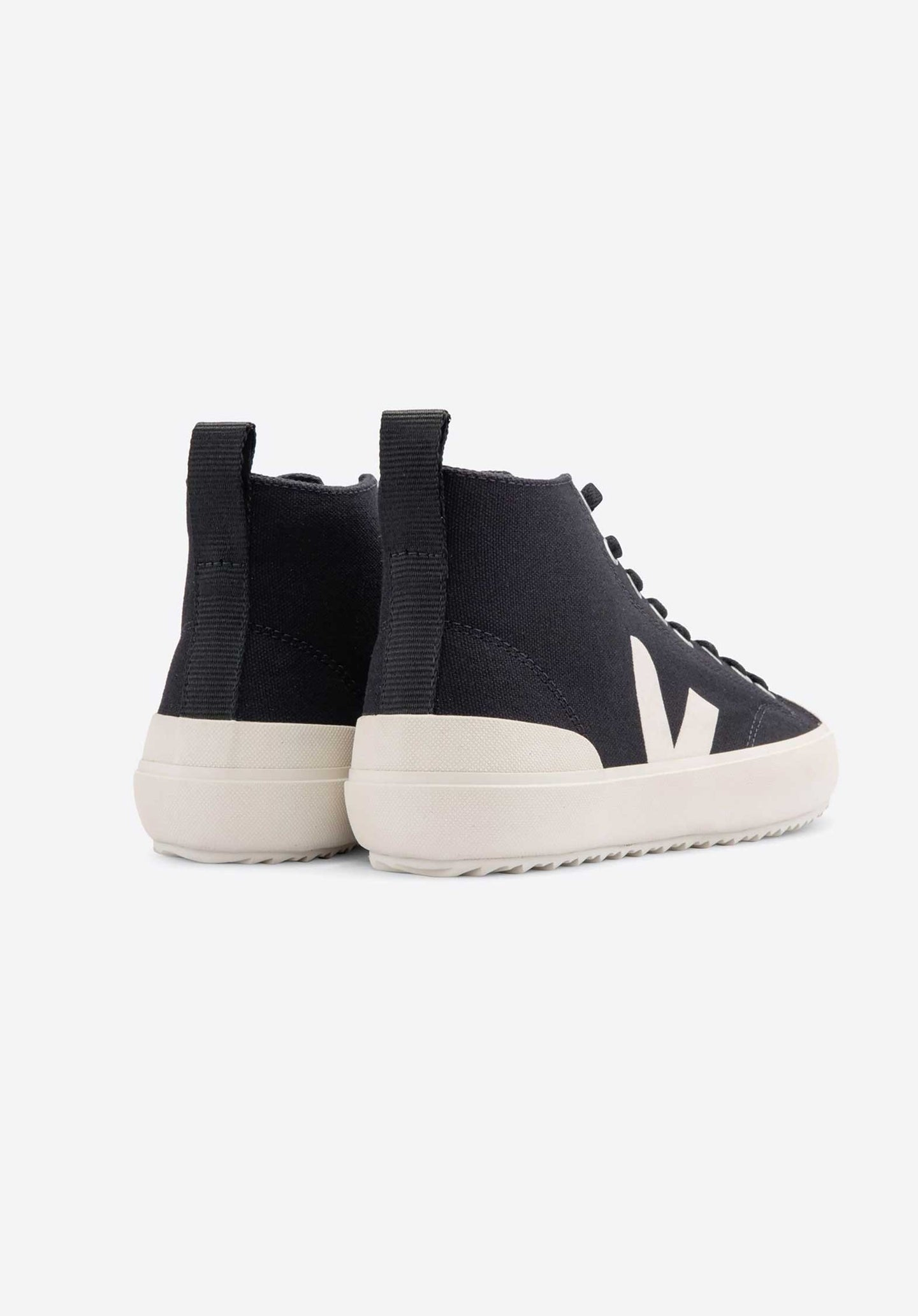 Nova Organic Cotton High Top Sneakers Black-Pierre