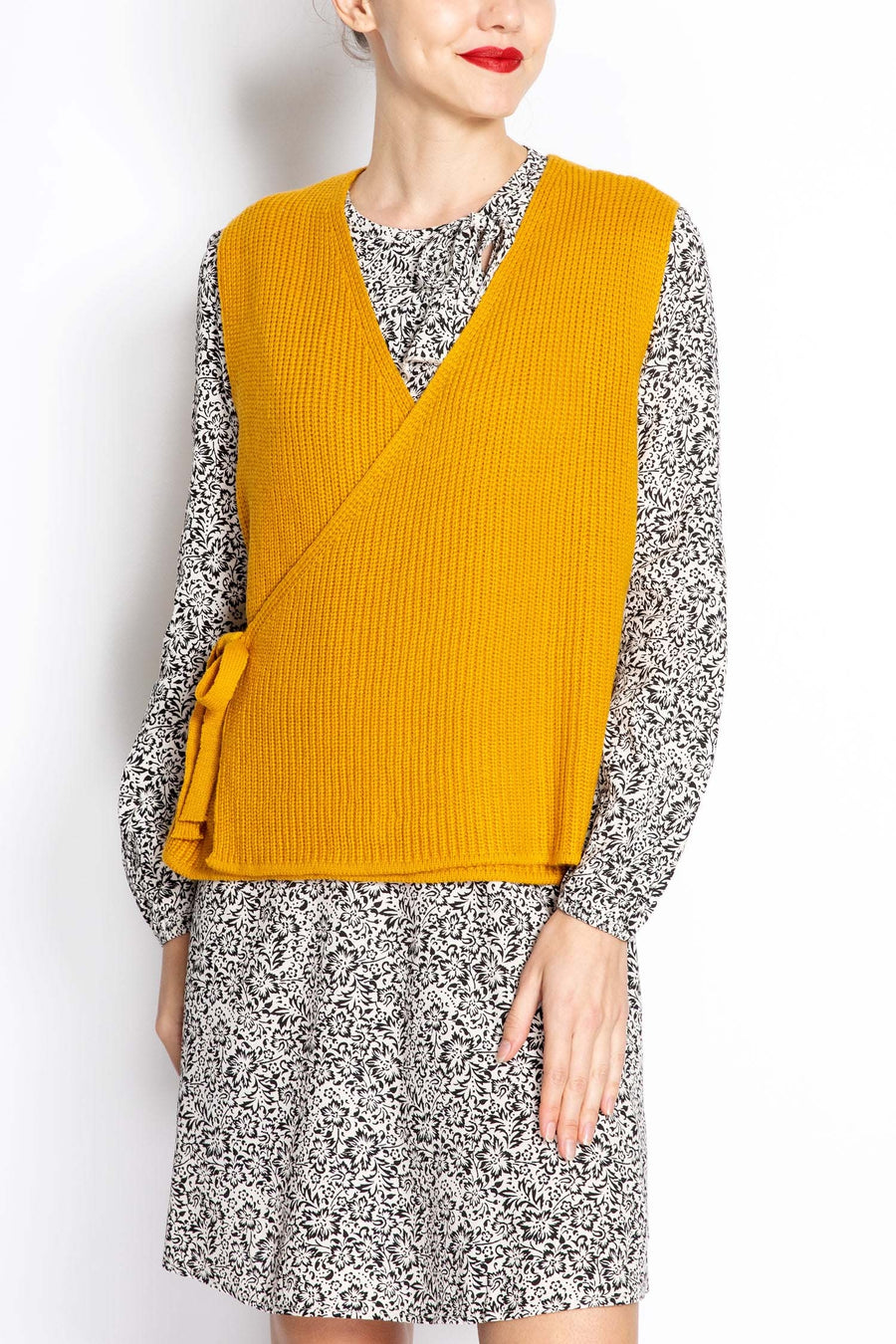 Knitted Wrapover Vest