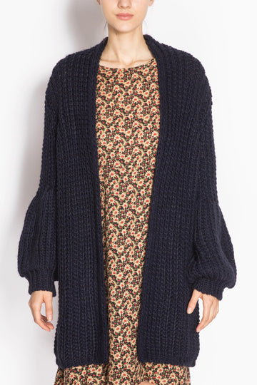 Knitted Bishop-sleeve Coat