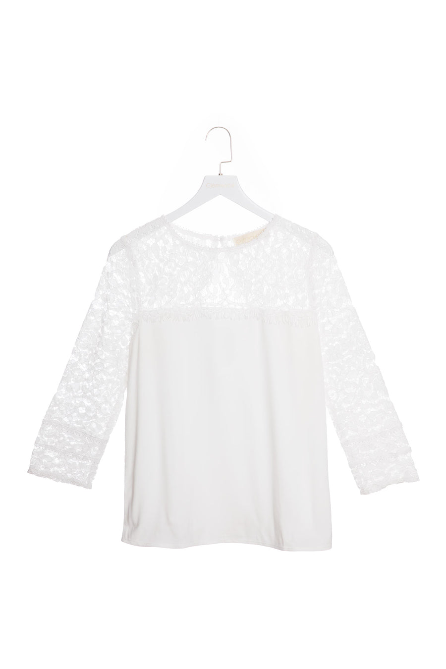 Guipure Lace Long-sleeved Blouse