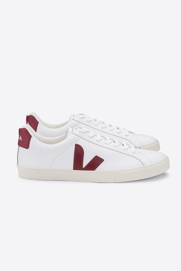 Esplar Leather Sneakers White-Marsala