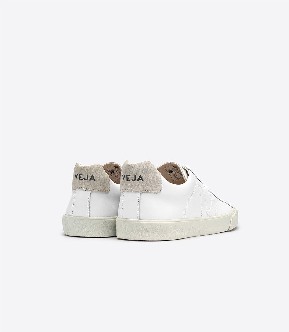 Esplar Leather Lace Up Sneakers White