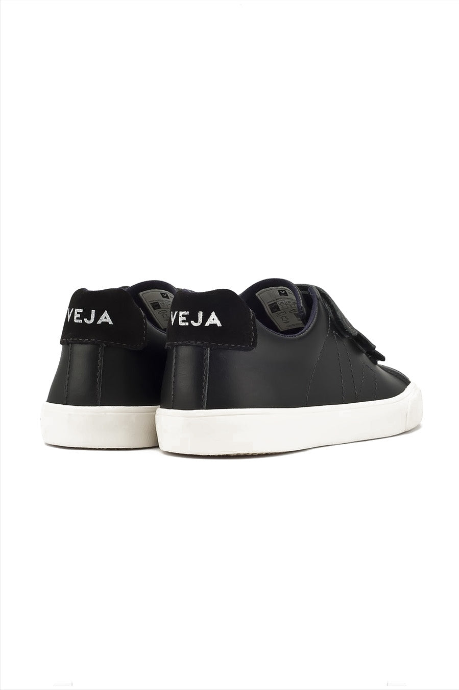 Esplar Leather Hook and Loop Sneakers Black