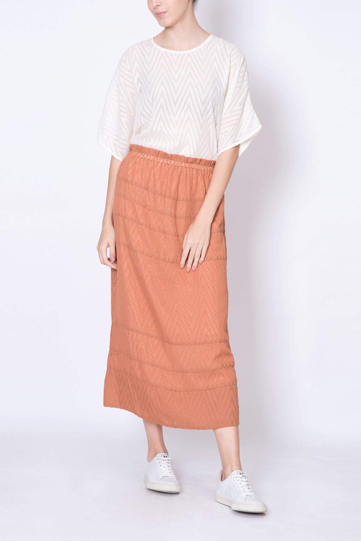Broderie Anglaised Long Skirt