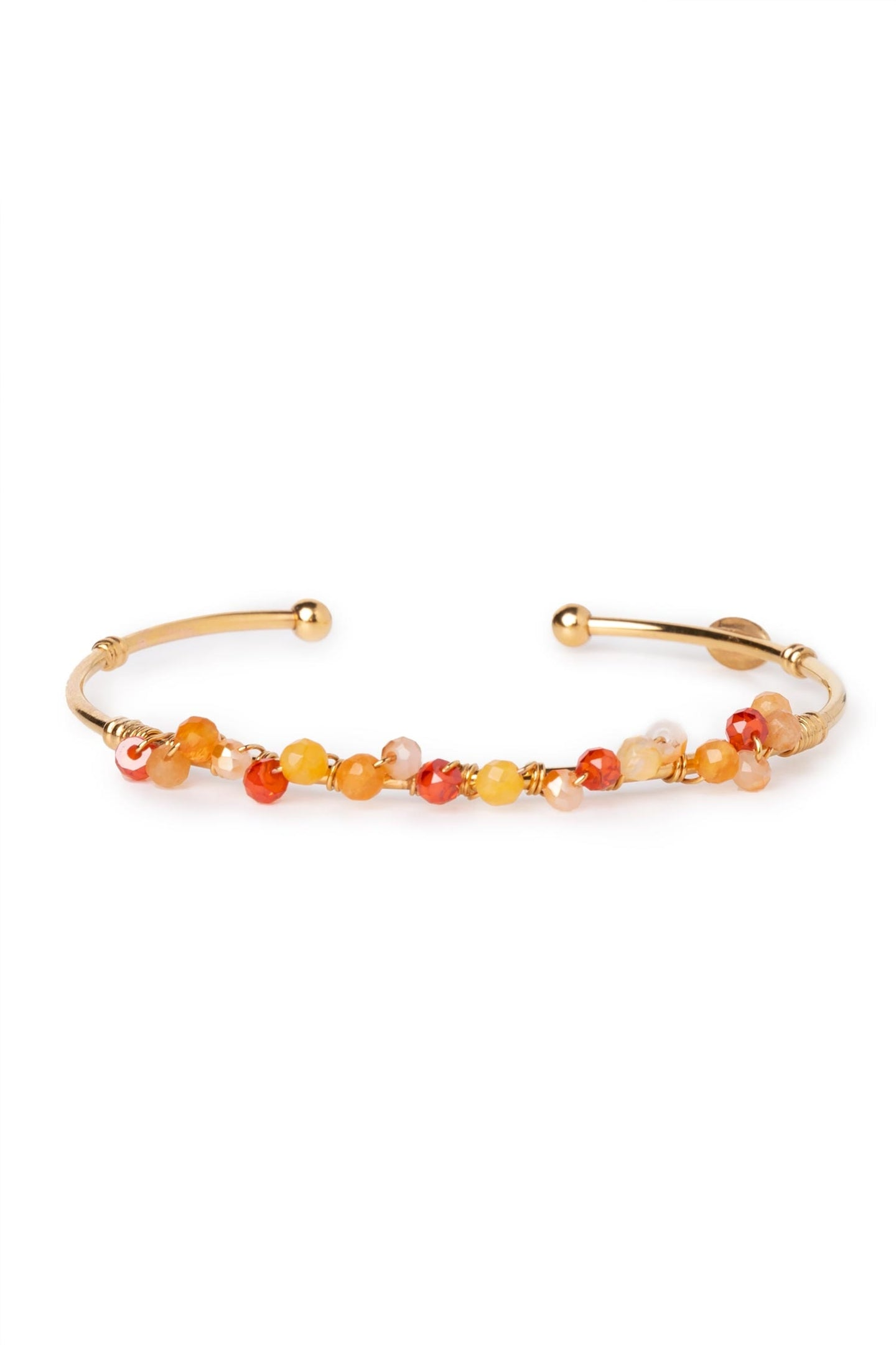 Calliope 24k Gold Plated Bead Bracelet Metal