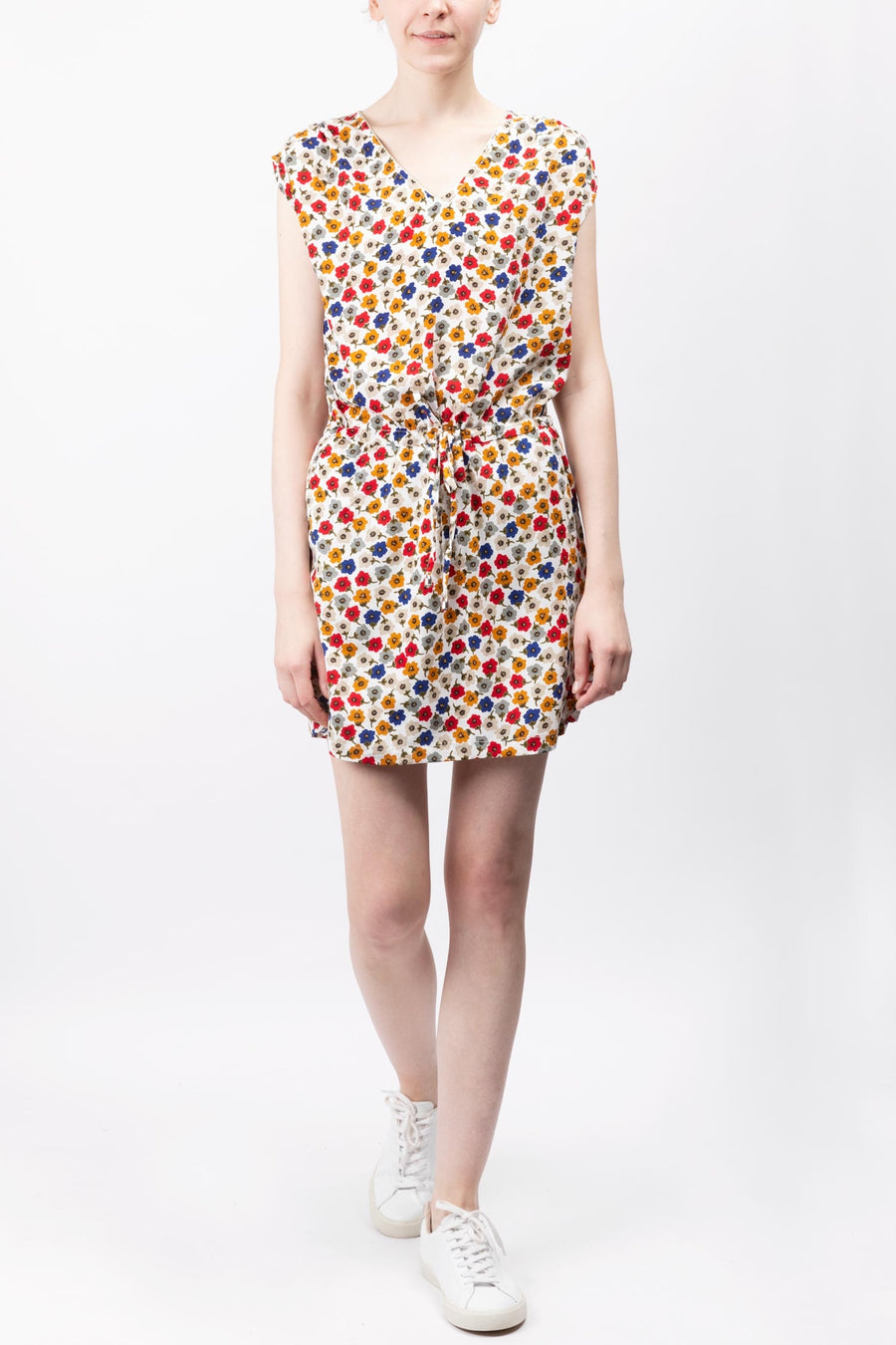 Printed Tie-waist Dress