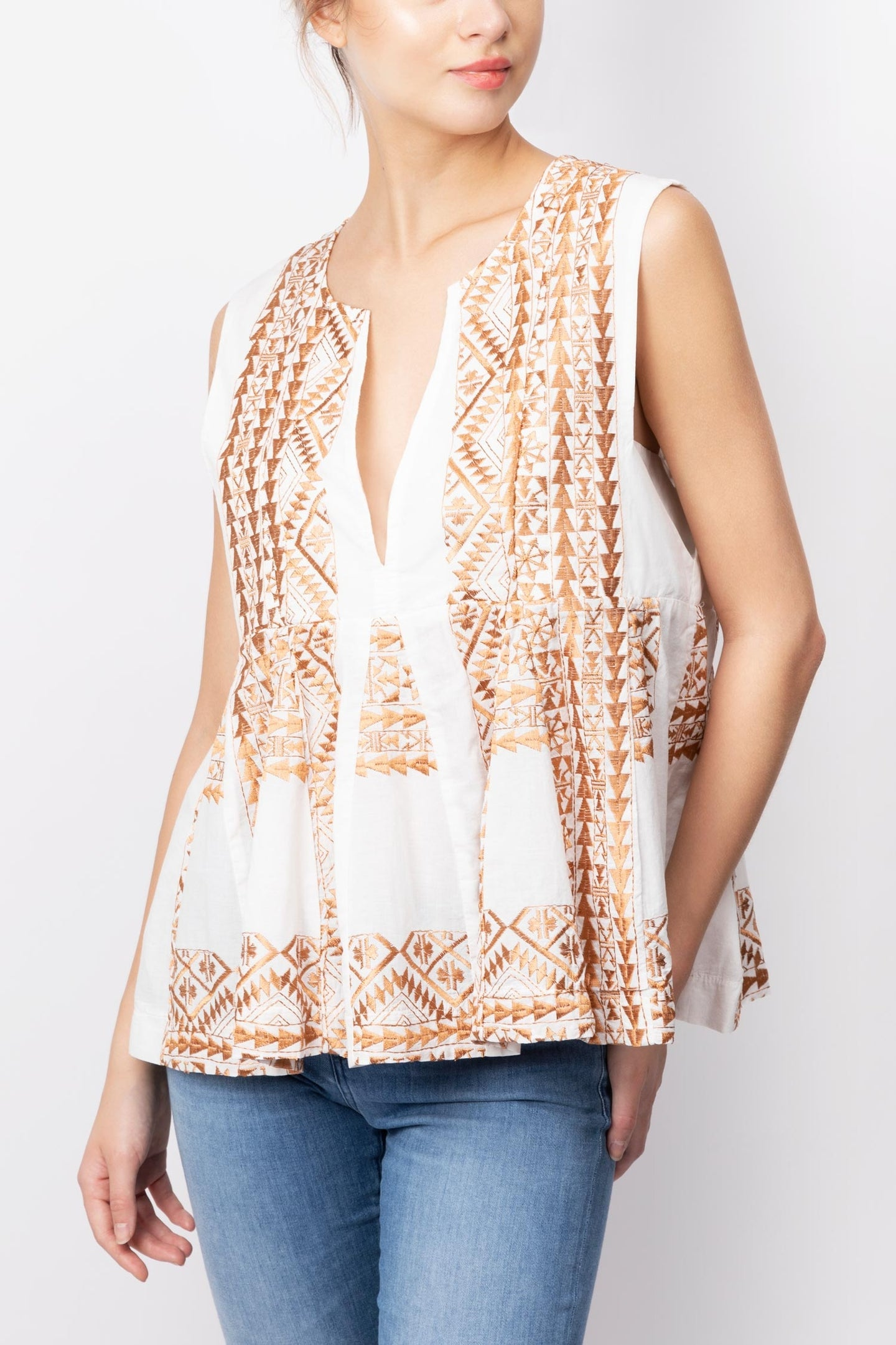 Tiered Embroidery Top