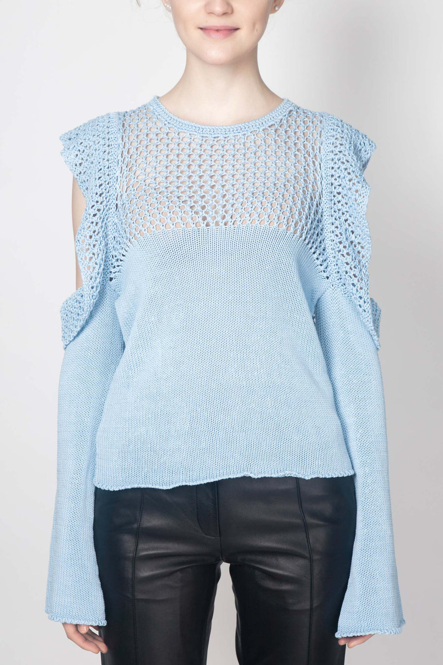 Cut-out Sweater with Elongated Sleeves