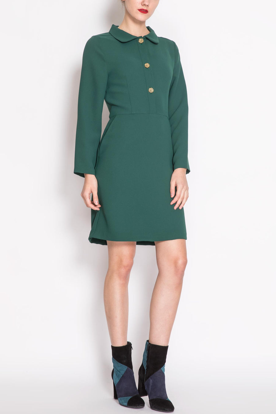 Long-sleeved Fitted Dress