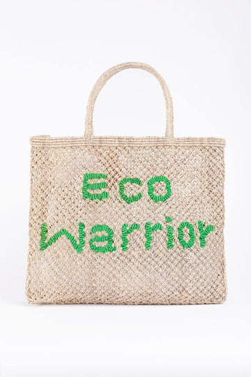 'Eco Warrior' Jute Tote Bag Nat