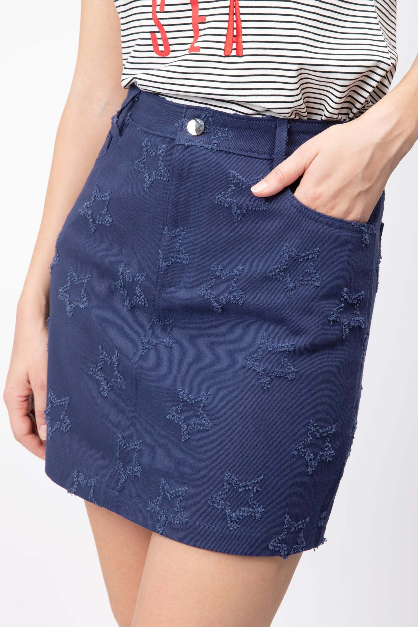 Star Embroidery Skirt