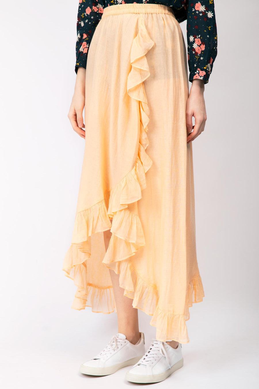 Ruffled Cotton Skirt