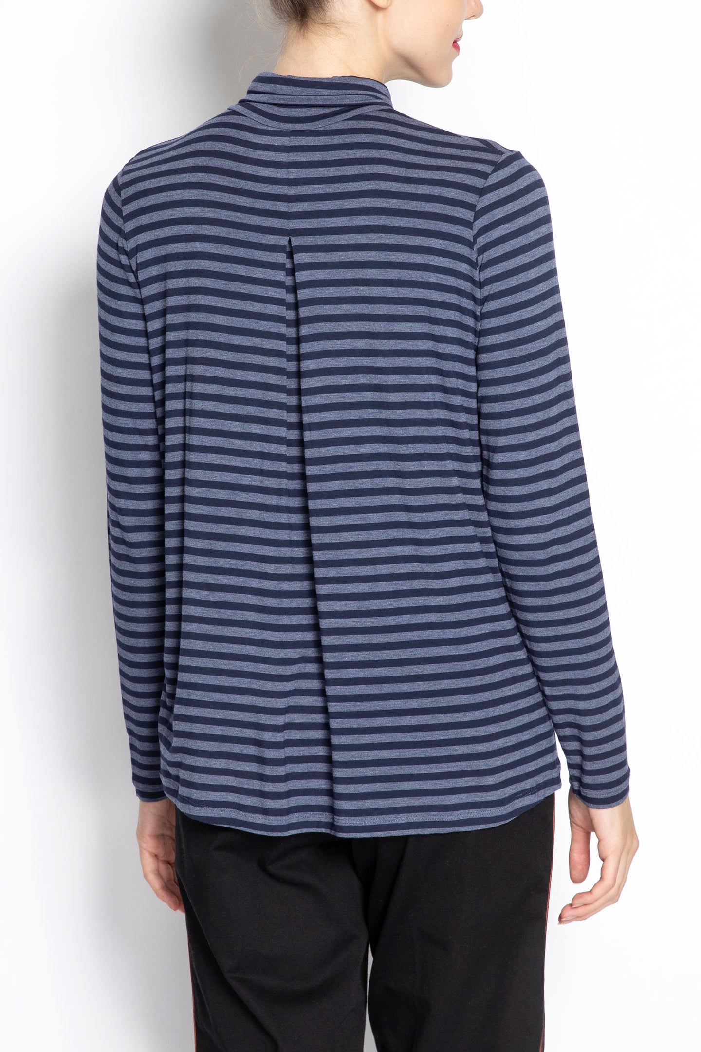 Turtleneck Striped Pullover