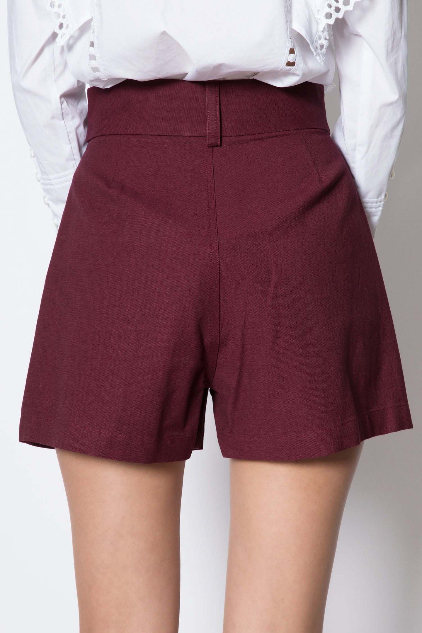 Pleated High-rise Shorts