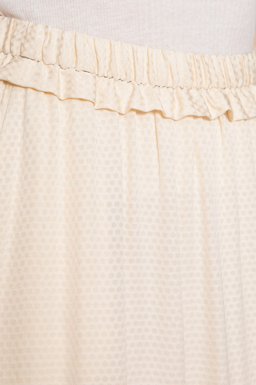 Dotted Ruffled Gathered Skirt