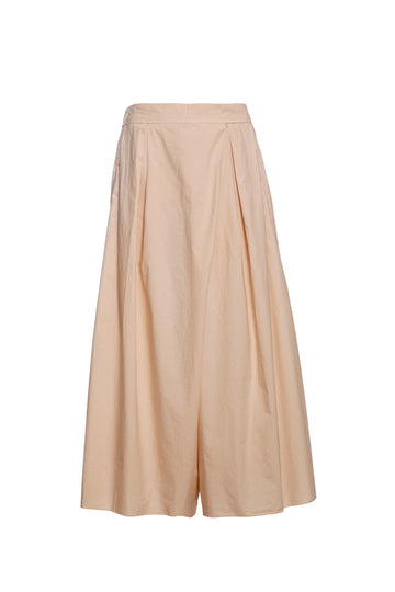 Box Pleated Flared Pants