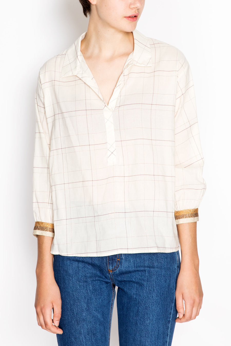 Checkered Shirt With Ribbed Cuffs