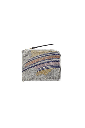 Embroidered  Coin Purse Rainbow